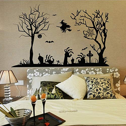 fkleber Spinne Hexe Wandaufkleber Halloween Home Decor Vinyl Abnehmbare Kunst Wandtattoo Für Kinder Schlafzimmer ()