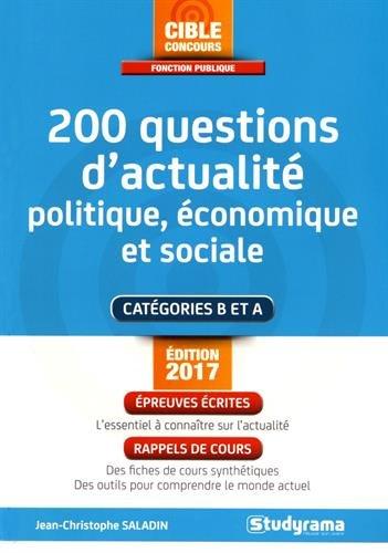200 questions d'actualit politique, conomique et sociale