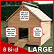 Chicken Coop Hen House Poultry Ark Home Nest Box Coup L - Slide Out Cleaning Tray & Innovative 4 Position Roof Vent (coop House L) by Feel Good UK