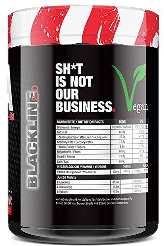 BlackLine 2.0 Juic3d BCAA - Instant Aminosäure Pulver. Vegan, Vitamin B6, Aminos 2:1:1 Leucin, Isoleucin, Valin. 1 x 500g (Eistee Zitrone) - 2
