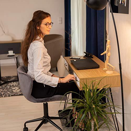 Relaxdays Designer Schreibtisch, 3 Schubladen, modernes Design, Computertisch, HxBxT: 75 x 100 x 50