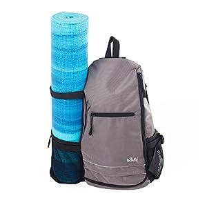 Yoga-Rucksack TRIKONASANA, coole & praktische Tasche für Sport & Yoga, ob mit oder ohne Matte, spritzwasserdicht & strapazierfähig, Citybag