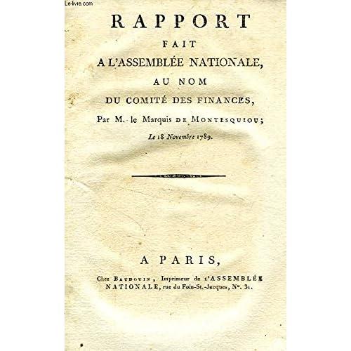 RAPPORT FAIT A L'ASSEMBLEE NATIONALE AU NOM DU COMITE DES FINANCES