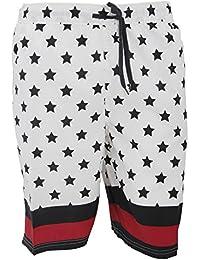 SoulStar Mens Byte Stars & Stripes Pattern Swim Shorts