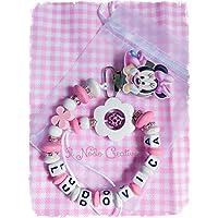 Catenella portaciuccio rosa Minnie | nome personalizzabile