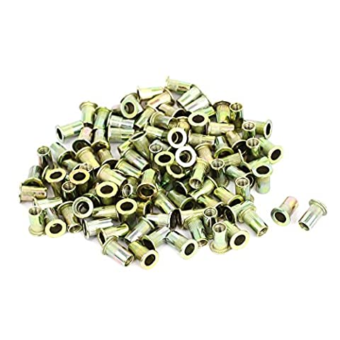 sourcingmap® M5 Threaded Countersunk Head Blind Rivnuts Rivet Nuts Nutserts