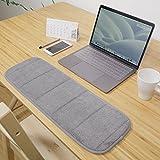 YQOOO Schwamm-Tastatur-Mausunterlage-Handgelenk-Ellenbogen-Auflage-Quadrat-starke Handpflege-Handgelenkauflage, [20 * 80] Grau