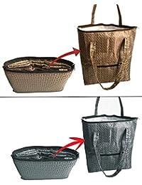 SEPAL Travel Shoulder Bags, 2-PACK Multipurpose Foldable Large Picnic/Shopping Hand Bags For Men & Women – (Design...