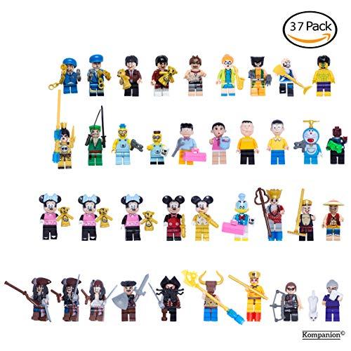 Set de 37 Figuras Miniatura para Juegos– Mini Personajes de Superhéroes y Villanos – Minifiguras de Juguete para Relleno de Regalos Navideños, Cumpleaños – Decoración para Mesa, Fiestas de Navidad y Disfraces