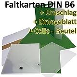 50 Stück // DIN B6 Faltkarten + Umschläge + Einlegeblätter + Cellobeutel // DUNKEL-GRÜN // Größe: 23 x 17 cm (gefaltet 11,5 x 17 cm) // 240 g/qm // Aus der Serie FarbenFroh von NEUSER!