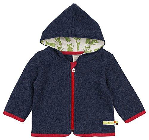 loud + proud Unisex Baby Jacke Fleece, Blau (Midnight Mi), 80 (Herstellergröße: 74/80)