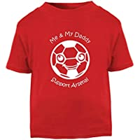 d6f2ed30a13 Hat-Trick Designs Arsenal Football Baby Children s T-Shirt Top-Red-Me