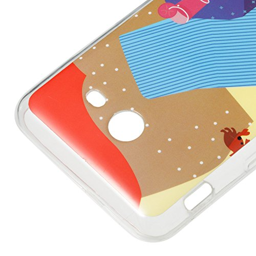 Custodia Cover Samsung Galaxy J5 2017 US, Samsung Galaxy J5 2017 US Custodia Silicone, JAWSEU Creativo Disegno Modello Protezione Custodia per Samsung Galaxy J5 2017 US Corpeture Luminoso Ultra Sottil Spiaggia