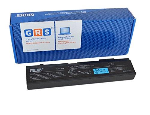GRS Batterie d'Ordinateur Portable pour Toshiba Satellite M40, M50, A100, A80, Dynabook CX, TX, VX, M115, Tecra A3, A4, A5, A6, A7, S2, remplace : de 2 pièces PA3399U-1BAS, PA3399U-1BRS, ordinateur portable Batterie 4400 mAh 10,8 V