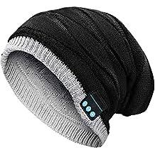 Achort Bonnet Bluetooth pour Hommes et Dames, Casquette Musicale pour Casque  sans Fil Bluetooth Rechargeable 6f6b876b5a3