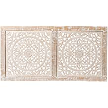 Cabecero Panel decorativo en Blanco lavado 110 x 57