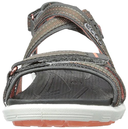 Ecco CRUISE Damen Sport- & Outdoor Sandalen Grau (DARKSHADOW/CORAL 58925)
