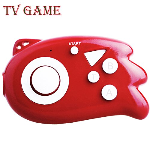 ZHIHSAN Kids Retro Game Console Iconic Mini joystick Plug-in portátil con TV Incorporado 89 Classic Nostalgic Video Games System (Rojo)