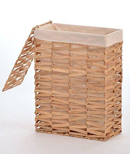 animal-design Nischen-Wäschekorb 'Clara' Gr. 2 - ca. 55 L Wasserhyazinthe Wäschesammler Wäschesortierer - großer Stauraum für wenig Platz