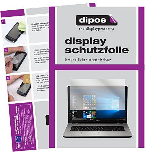 dipos I 2X Schutzfolie klar passend für Medion Akoya E7424 Folie Bildschirmschutzfolie
