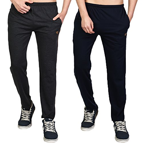 White Moon Men's Poly Cotton Combo of 2 Track Pant (M)