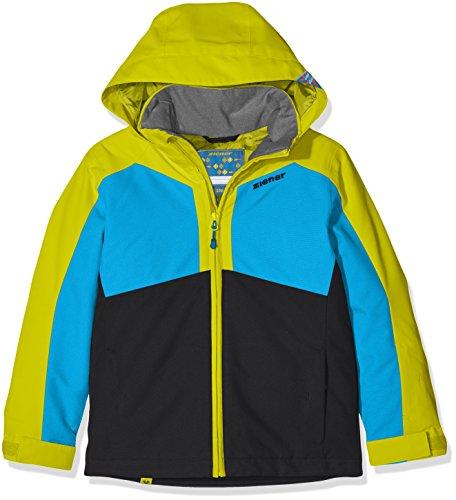 Ziener Kinder Aboro Jacket Ski Skijacke, Black, 128