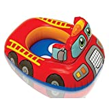 #4: Inflatable Kiddie Swim Pool Water Float Ring Tube Boat for Kids (Fire Engine, Red)