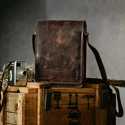 LEABAGS Dover borsa a tracolla vintage in vera pelle di bufalo - CrazyVinkat CrazyVinkat