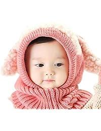 SHBUY Sombrero de bebé de Invierno, Invierno del bebé Niños Niñas Chicas Chicos Tejido Gorro Punto Caliente Lana Cofia Capucha per Bebés de 2 a 6 años