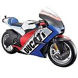 Maisto MotoGP Ducati World Cycle Series 1:6 Scale Model Bike (Red & Blue)