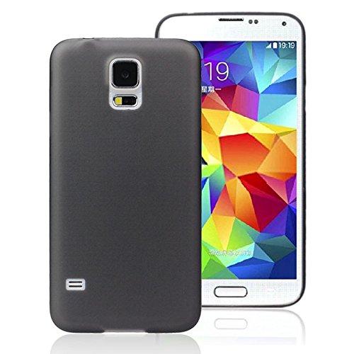 aobiny Handy Shell Transparent Farbe Weichem Kunststoff Schutzhülle für Samsung Galaxy S5, Schwarz (Lifeproof Case Samsung Galaxy S5)
