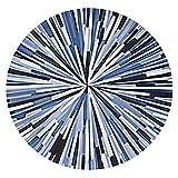 tappeti Zona dei Capelli Corti e Rotondi per la casa, con Zona Nordic Trend, Coperta da Letto da Camera, Tappetino Lavabile Antiscivolo (Dimensioni : Diameter 150cm)