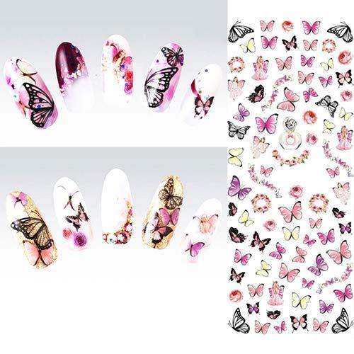 TankMR 1 Blatt Nail Art Sticker Decals, Selbstklebende Nail Art Decals Nail Art Transfer Sticker Nail Art Design, Für Frauen Mädchen Kinder Maniküre DIY Oder Nagelstudio 1 Blatt Nail Art Sticker -