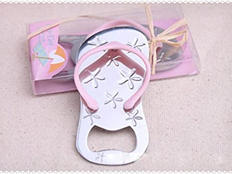 IGEMY Bottle Opener Starfish Flip-flop Shape Alloy Tool Wedding Party Birthday Baby Shower Favor Gift Souvenirs (pink)