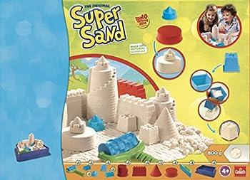 Goliath 83219 - Super-sand-set Castle, Modellierbarer Magischer Sand Bringt Burgen Ins Kinderzimmer, Handliche Sandkasten-box, Bunte Burg-förmchen, Ab 4 Jahren 10