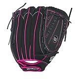 Wilson Baseballhandschuh, Rechtswerfer, 12 Inch, FLASH, Schwarz/Pink, WTA04RF1612