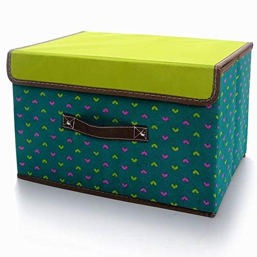 空间优品 圆点收纳箱/衣物整理箱杂物收纳盒一只装 36L 绿色 ...