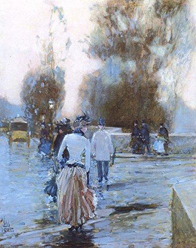 Das Museum Outlet-Die Quay oftuileries, 1888-89-Leinwand (61x 81,3cm)