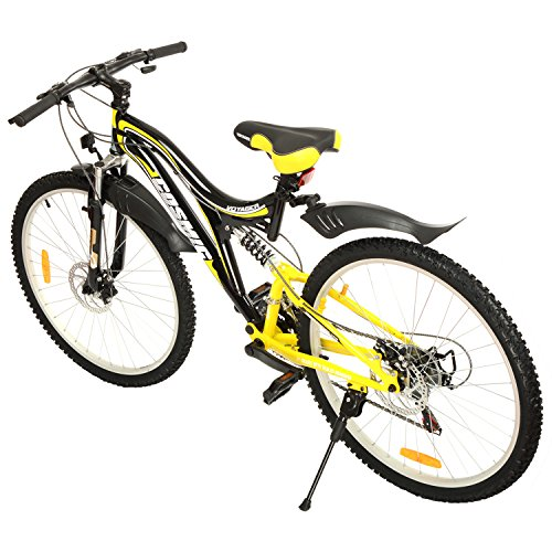 Cosmic Voyager 21 Speed Gear Bicycle, 26-inch (Black/Yellow)
