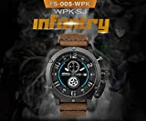INFANTRY® Herren Analoges Quarzwerk Armbanduhr Edelstahl Leuchtend Outdoor Chronograph Echtleder Armband World Peacekeepers - 2