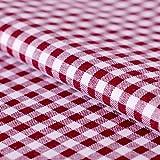 Hans-Textil-Shop Stoff Meterware Vichy Karo 5x5 Bordeaux