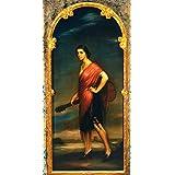 """Impresión artística / Póster: Julio Romero de Torres """"La copla. Museo de Julio Romero de Torre"""" - Impresión de alta calidad, foto, póster artístico, 50x100 cm"""