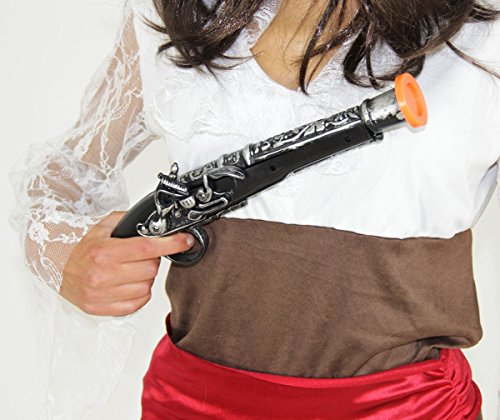 Foxxeo Donnerbüchse - Pistole für Piraten Karneval Fasching Party Freibeuter Seeräuber