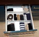 Schubladenteiler verstellbar Weiß -K&B Vertrieb- Schubladeneinteiler Fachteiler universell einsetzbar 653 (18 Stück)