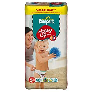 Pampers Easy Ups Size 5 (Junior) Large Nappies - Pack of 46