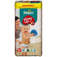 Pampers - Pañales easy ups talla 5 (junior) - pack de46