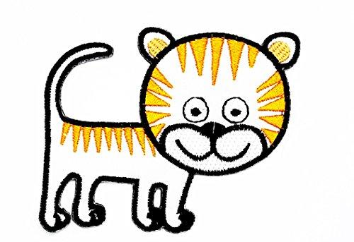 rabana Cute Scout weiß Cartoon Kids Kinder Cute Animal Patch für Heimwerker-Applikation Eisen auf Patch T Shirt Patch Sew Iron on gesticktes Badge Schild Kostüm (Shirt Patches Scout)