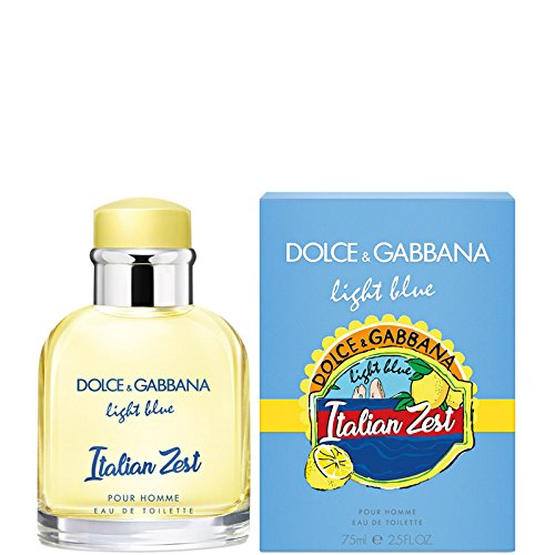 Dolce & Gabbana LIGHT BLUE ITALIAN ZEST Homme Eau de Toilette 75ml (Toilette De Eau Light Blue)