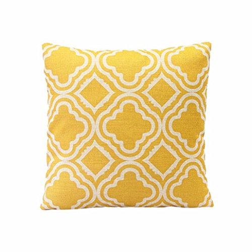 Sunnywill Rautenförmige Muster Leinen Throw Kissen Fall Kissen Cover Home Decor( Kissen ist nicht inbegriffen ) -