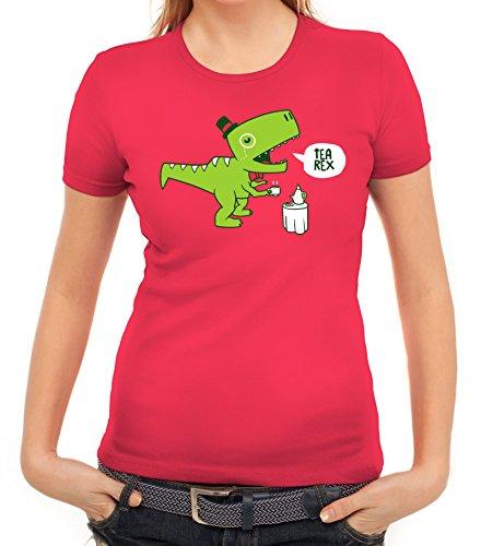 Lustiges Damen T-Shirt mit TeaRex Motiv von ShirtStreet Pink